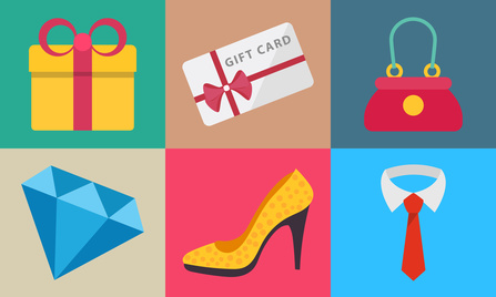 Flat icons for shopping, fashion