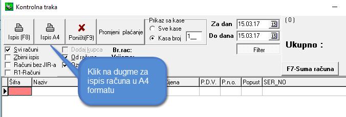 KASA ISPIS A4