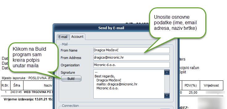 email opći podatci